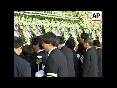Military funeral for 46 sailors killed in warship sinking