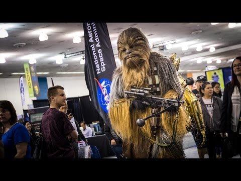 Adam Savage Went Incognito at the Silicon Valley Comic Con Dressed as Chewbacca With