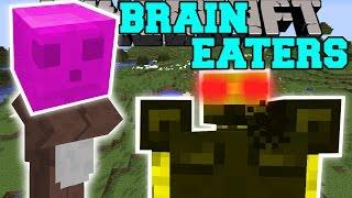 Minecraft: BRAIN EATERS (BRAIN SLIMES, TRAP LILY PADS,&CHARGING BLAZES!) Mod Showcase
