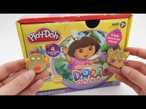Play Doh Dora the Explorer playdough playset by unboxingsurpriseegg