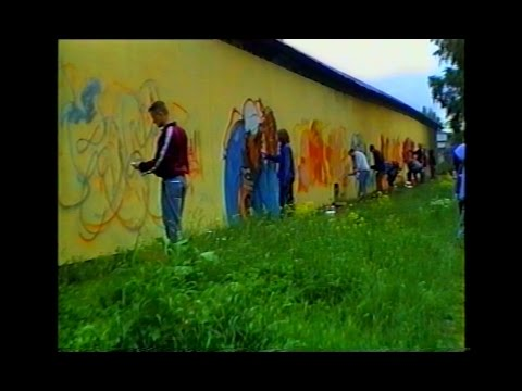 The Underground Productions graffiti jam in Bromsten 1995, part 1