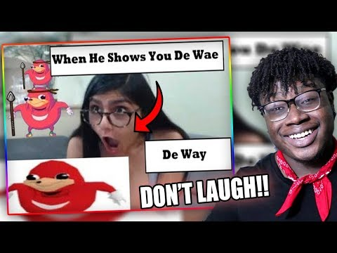 SHE KNOWS DA WAE!   Try Not To Laugh Or Grin Challenge DANK MEME EDITION!