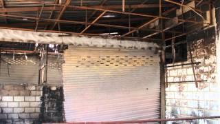 Phonsavahn kub nyhiab, Phon Savahn shopping Market burndown 12-3-2013