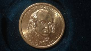 "The James Madison Presidential Dollar was released into circulation on November 15, 2007. This represented the fourth overall release in the Presidential Dollar coin series and the final coin released for the year 2007.James Madison was an important figure in determining the course of the early United States. With Alexander Hamilton and John Jay, he wrote The Federalist Papers, which advocated the adoption of the Constitution. He also helped secure passage of The Bill of Rights. He served two terms as the 4th President of the United States from 1809 to 1817.There was no official launch ceremony held for the James Madison Presidential Dollar. This is one of only a few situations where a launch ceremony was not organized by the United States Mint for a new release of the series.The obverse of the James Madison Dollar features a portrait of the President and the reverse features a rendition of the Statue of Liberty. The obverse designer was Joel Iskowitz and the sculptor was Don Everhart. The reverse designer/sculptor was Don Everhart.The obverse includes the inscriptions ""James Madison,"" ""4th President,"" and the years of his presidential term ""1809-1817."" The reverse inscriptions include ""United States of America,"" and the denomination ""$1."" The date and mint mark are located on the edge inscription of the coin along with the mottoes ""In God We Trust"" and ""E Pluribus Unum.""Circulating coin production for the James Madison Dollar showed another drop from the level for prior release. This continued the trend of lower overall mintages for each release of the Presidential Dollar coin series. The Philadelphia mint produced 84,560,000 coins and the Denver mint produced 87,780,000 coins."