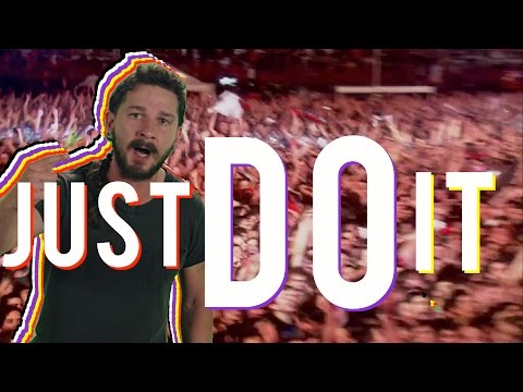 Just Do It  A Version of Shia LaBeouf  s Motivational Green Screen Speech Songified by the Gregory
