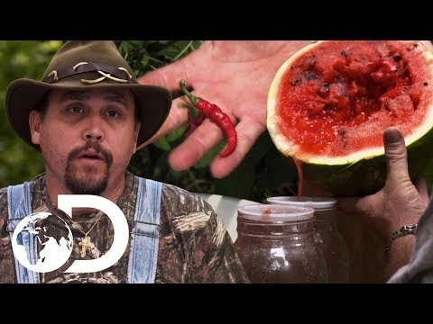 Mike & Daniel Put A Hot New Twist On Watermelon Moonshine | Moonshiners