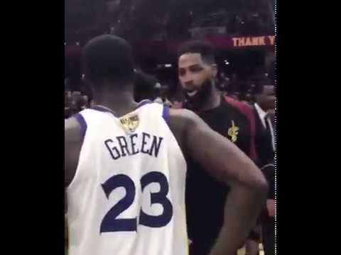 DRAYMOND GREEN SNAPS ON TRISTAN THOMPSON AFTER GAME 4 WHEN HE TRIED TO END BEEF;