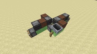 Simple 2-Way Controllable Flying Machine -- Minecraft Tutorial
