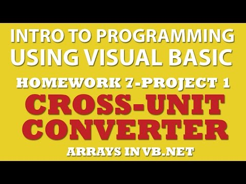 VB.net (Ex 7-pp1): Multiple-Unit Converter (VB.net Arrays)