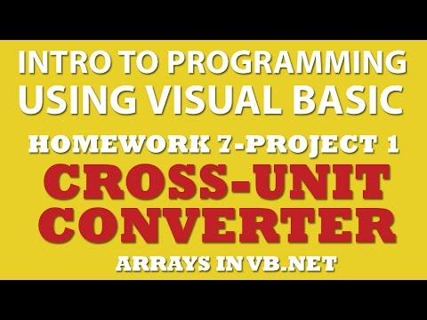 VB.net (Ex 7-pp1): Multiple-Unit Converter (VB.net Arrays)
