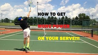 In this video, Coach Daniel helps you understand how to get the power contact on the ball so that you can effectively create leverage so that you can get more POWER on your serve!