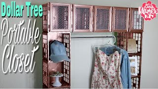 Dollar Tree DIY Portable Crate Closet
