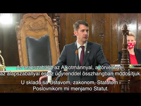 Dr. Pásztor Bálint, a szabadkai VKT elnökének beszéde-cover