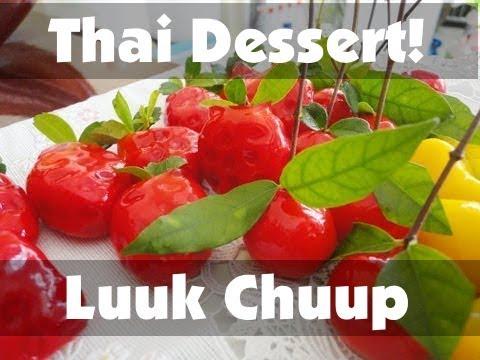 Thai Dessert Recipe: Luuk Chuup! (Thai Mung Bean Marzipan)