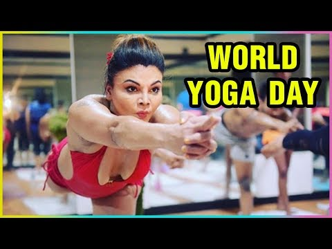 Rakhi Sawant Hot Yoga | Celebrity Yoga | Internati