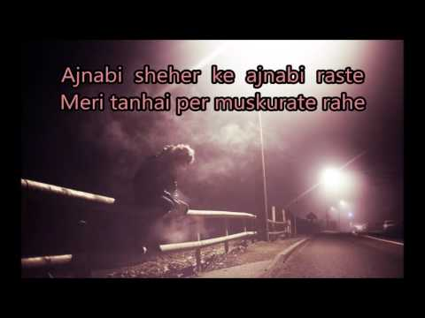 Video ajnabi sheher ke ajnabi raste karaoke free download in MP3, 3GP, MP4, WEBM, AVI, FLV January 2017