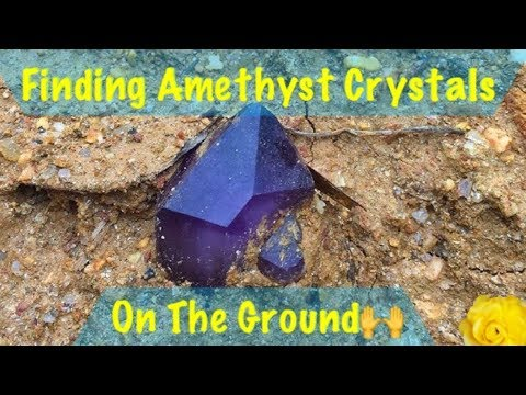 The Crystal Collector gets flooded by rain but finds amethyst quartz crystals!