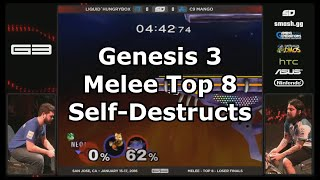 Every Self-Destruct in Genesis 3 Melee Top 8
