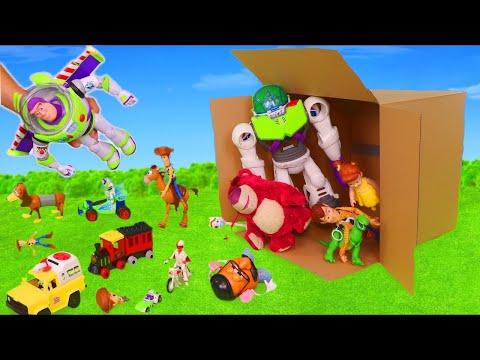 Toy Story 4 Sürpriz Oyuncaklar Buzz Lightyear, Forky & Woody Çocuklar için arabalar - Toys for kids