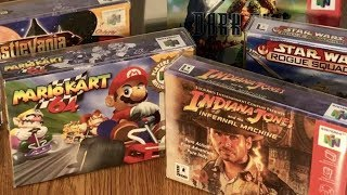 Quest to the COMPLETE Nintendo 64 collection of all 296 games with box & manual! LEAVE A COMMENT BELOW IF YOU CAN DONATE ANYTHING! :)Gadget Deals: http://amzn.to/2f8ysW0Nintendo Switch: http://amzn.to/2lZ8jyfNintendo Switch Red/Blue: http://amzn.to/2ly3LeFNew 3DS XL: http://amzn.to/2mCgS2XLegend of Zelda: Breath of the Wild: http://amzn.to/2mPaT8nSuper Mario Odessey: http://amzn.to/2mVCuUPMario Kart 8 Deluxe: http://amzn.to/2m43O3QMinecraft: http://amzn.to/2lnyr7aSwitch Pro Controller: http://amzn.to/2m4GtR8Legend of Zelda Special Edition: http://amzn.to/2m44iHgLegend of Zelda Master Edition: http://amzn.to/2m4i0KbSplatoon 2: http://amzn.to/2m46YVaSwitch Screen Protector: http://amzn.to/2pffVPuBuy NES Classic Edition: http://amzn.to/2liLDdJFOLLOW ME IN THESE PLACES FOR UPDATES:Support Me on Patreon: https://www.patreon.com/TheGadgetGodFacebook: https://www.facebook.com/candyvinthegadgetgodTwitter: https://twitter.com/TheGadgetGodTwitch: https://www.twitch.tv/thegadgetgodInstagram: https://www.instagram.com/thisisvinchenzoVIDEOS:-Best Retro Game Box Protectors!! - https://www.youtube.com/watch?v=eCjeH3YsvNQ-Mario Kart 8 Deluxe Review!! - https://www.youtube.com/watch?v=4qKbd6EdyXg