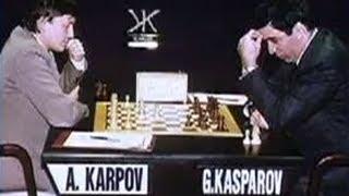 Karpov discusses 1987 World Chess Championship w/ Garry Kasparov