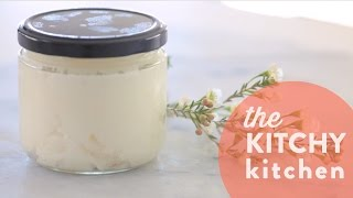 DIY Whipped Coconut Oil Body Butter // Living Deliciously