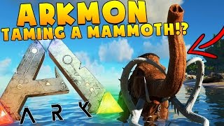 WOOLY MAMMOTH TRIES TO EAT ME - ARK SURVIVAL EVOLVED POKEMON MOD (ARKMON) #27