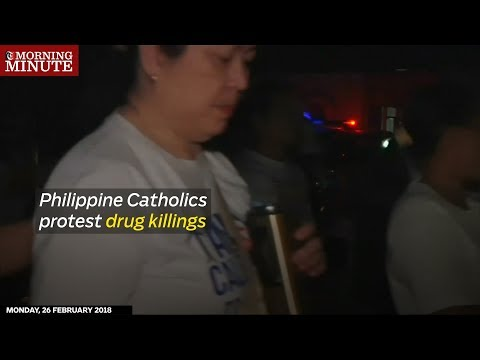 Philippine Catholics protest drug killing