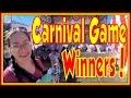 Fun Carnival Games At Alaska State Fair  Winning Impossible Amusement Carnival Game Wins Winners