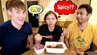 When Indians try Spicy Korean Food Ft. Korean Englishman and Awal Madaan | Spicy Food Challenge |