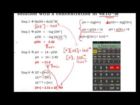 Calculating pH, pOH, [H+], [H3O+], [OH-] of Acids and Bases - Practice (видео)