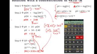 Video Calculating pH, pOH, [H+], [H3O+], [OH-] of Acids and Bases - Practice MP3, 3GP, MP4, WEBM, AVI, FLV September 2018