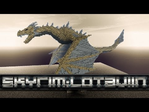 Lotaviin - Dragon from Skyrim in Minecraft