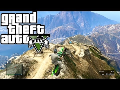 GTA 5 ONLINE Mountain Bike Race ( Fun Custom Race )  GTA V MULTIPLAYER