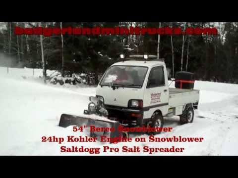 Mitsubishi MiniCab 4x4 Mini Truck Snowblower Project