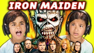 Metal music legends Iron Maiden reacted to by Kids! Original videos linked below! Subscribe to Iron Maiden:...