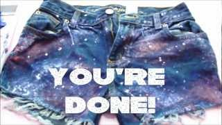 DIY Galaxy Shorts! - YouTube