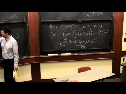 Lec 13 | MIT 5,74 Introductory Quantum Mechanics II, Frühjahr 2009