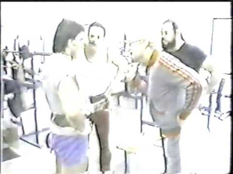 BLACK BART AND RON BASS AT THE GYM  1984