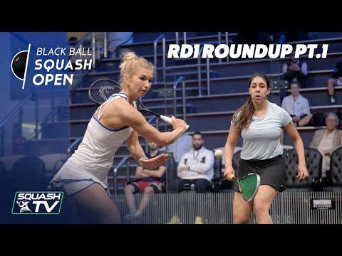 Squash: CIB Black Ball Women's Open 2020 - Rd 1 Roundup [Pt.1]