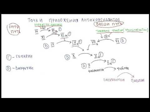 фармакология - Антикоагулянты (краткий обзор)