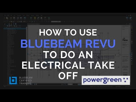 TS2 - How to do an Electrical take off with Bluebeam Revu