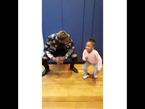 cute girl dancing Rihanna's gwaragwara dance