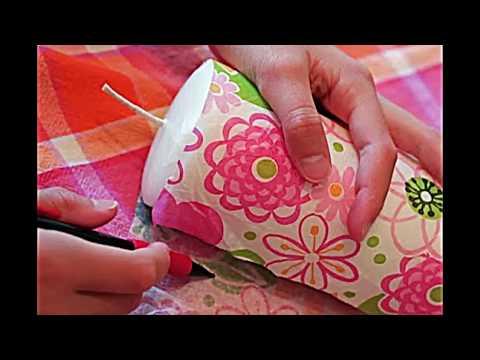 Deko Idee zum Malen und Basteln mit Kindern — Kerzen selber machen