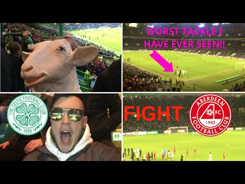 *PLAYER BRAWL!*| HORROR TACKLE! | SHEEP MEET G.O.A.T! | CELTIC 2-1 ABERDEEN VLOG AND HIGHLIGHTS