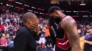 Lebron James Introduces Norris Cole To Jay-Z, Gives Beyonce Nephew His Headband, Sneakers, etc