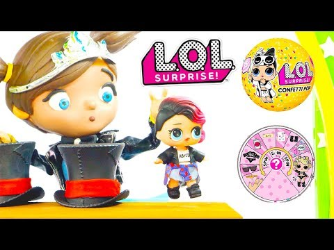 Play doh - LOL Dolls Claymation Surprise Magic Show with Playdoh Easter Egg Surprises and Ellie Sparkles Toys