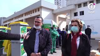 وزارة البيئة تدعم مستشفى 1 نوفمبر بوهران بمستلزمات الوقاية والتعقيم