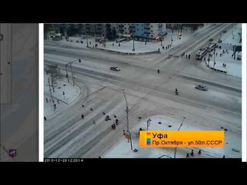 пустой проспект Октября Уфа 21.12.2013