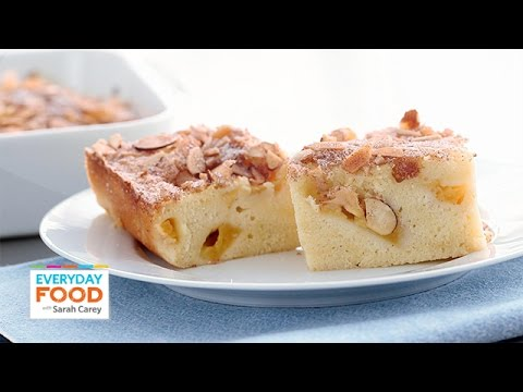 sarah - The buckle is very similar to a coffee cake but with fruit added in. Excellent for breakfast or dessert, the ground cinnamon and sliced almonds lend a sweet and nutty flavor to the juicy peaches....